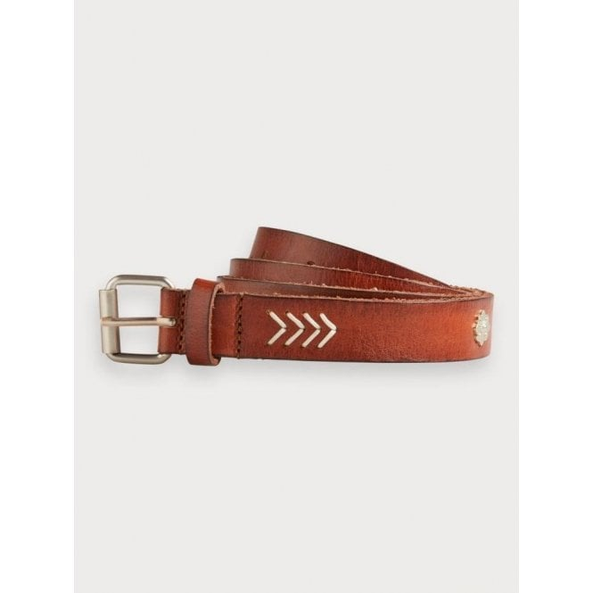 Scotch & Soda Studded Leather Belt