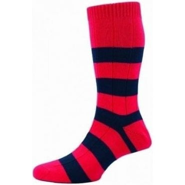 Ely - Rugby Stripe - Cotton Men's Sock