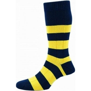 Ely - Rugby Stripe - Cotton Men's Sock