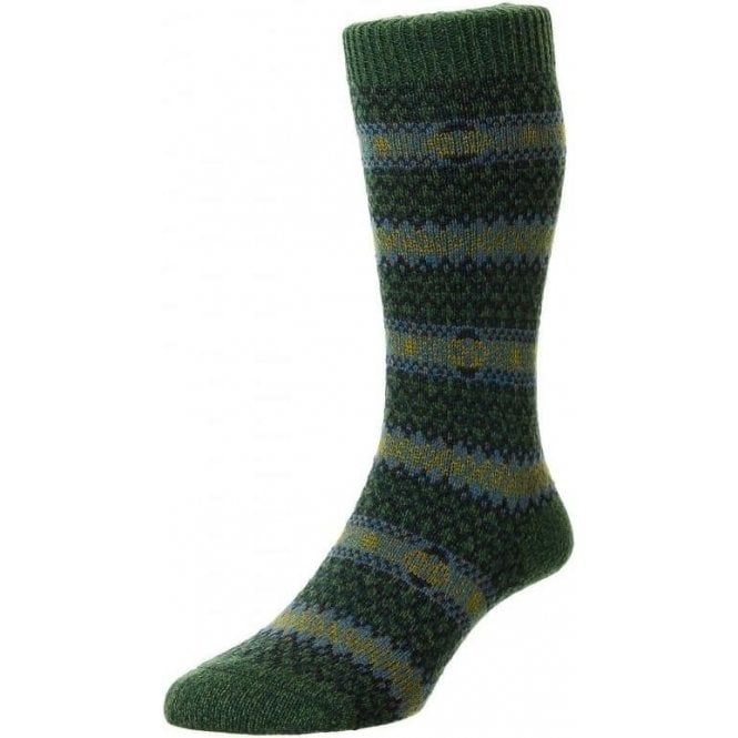 Scott Nichol Felbrigg - Country Fairisle Stripe - Wool Men's Sock