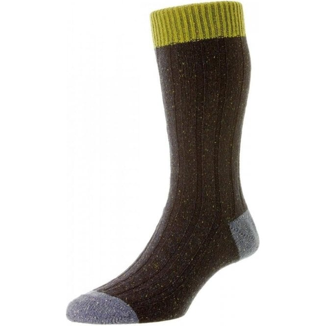 Scott-Nichol Thornham 6 x 2 Rib Wool Sock