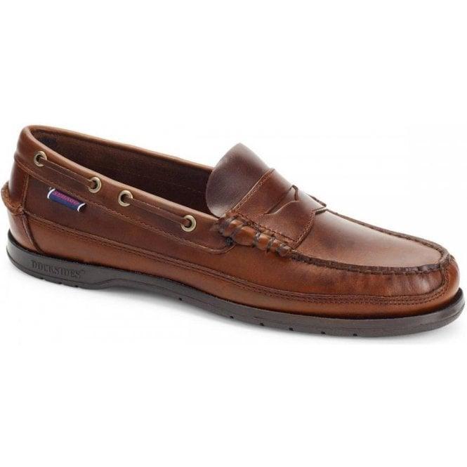 Sebago Sloop Waxed Leather Loafer