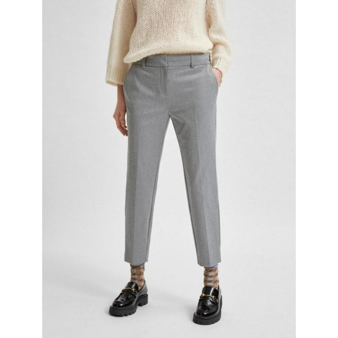 Selected Femme Cropped Recycled Polyester Pants