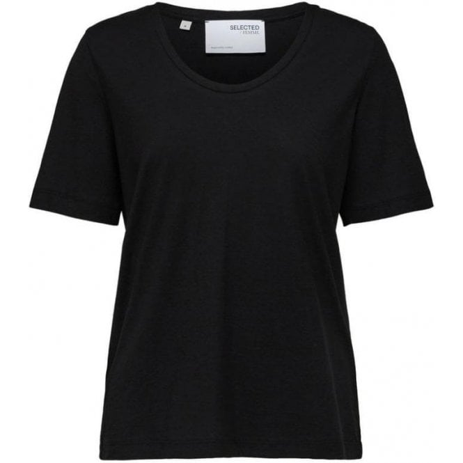 Selected Femme Organic Cotton And Hemp T-Shirt