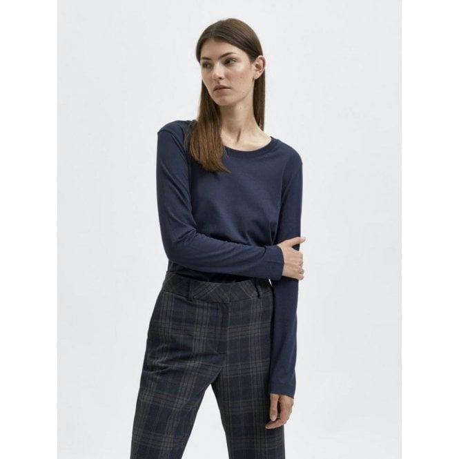 Selected Femme Organic Cotton Long Sleeved T-shirt
