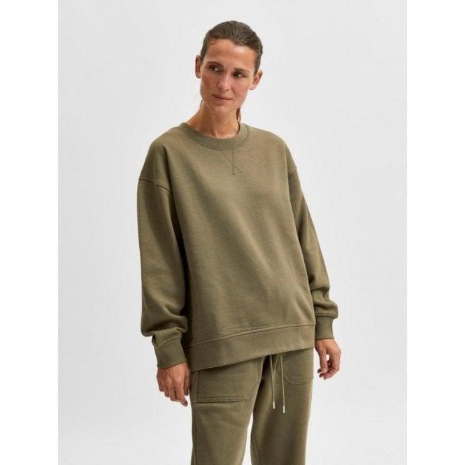 Selected Femme Organic Cotton Selected Standards Sweatshirt