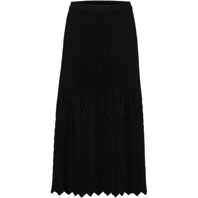 Selected Femme Pleated Silver Midi Skirt