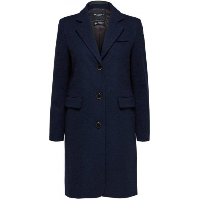 Selected Femme Single Breasted Coat
