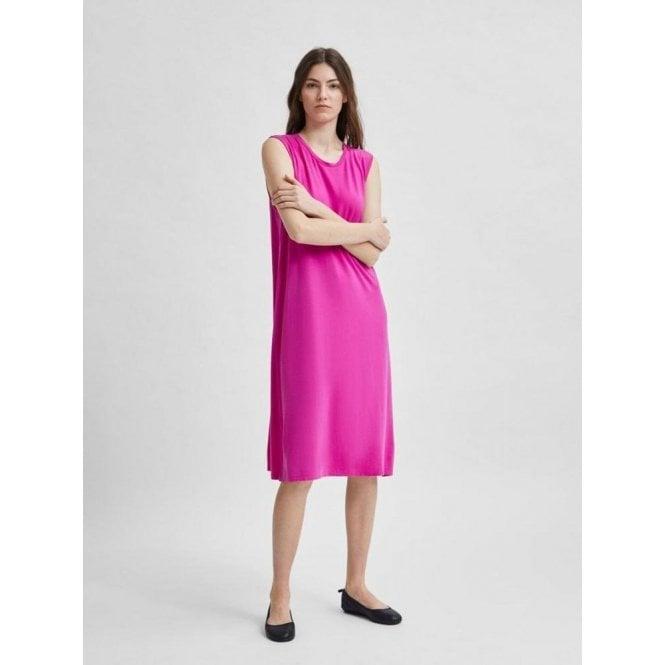 Selected Femme Sleeveless Stretch Midi Beach Dress