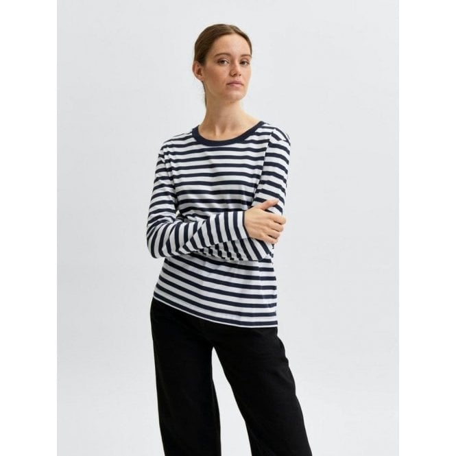 Selected Femme Striped Long Sleeved T-Shirt