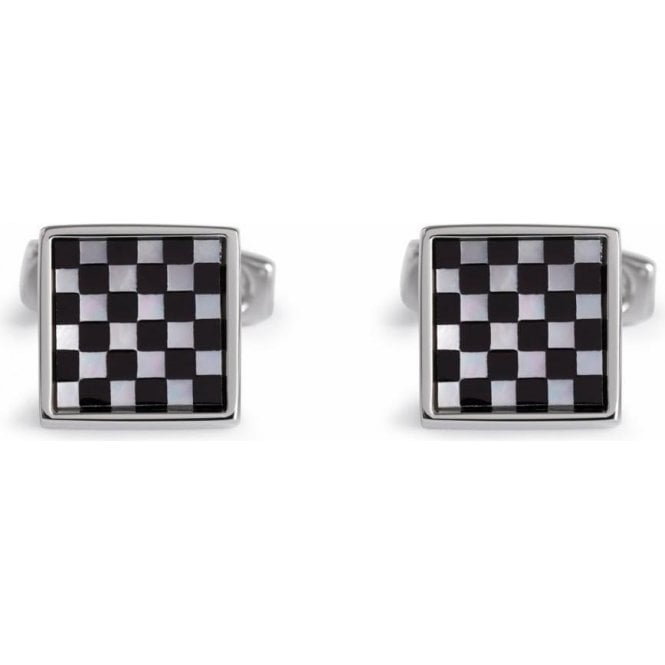 Simon Carter Chequer Mother of Pearl Cufflinks
