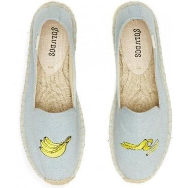 Banana Embroidered Platform Slipper