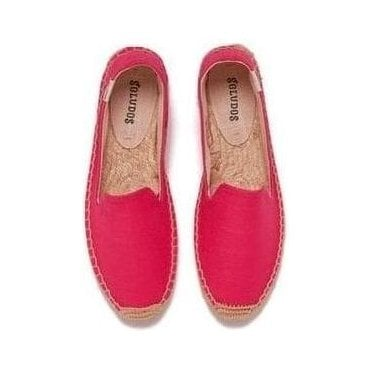 Linen Espadrille Smoking Slippers