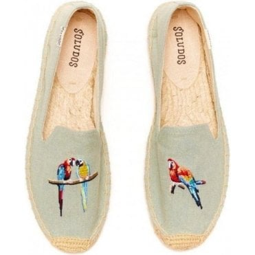 Parrots Chambray Smoking Slipper