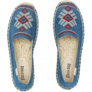 Yucatan Embroidered Platform Smoking Slipper