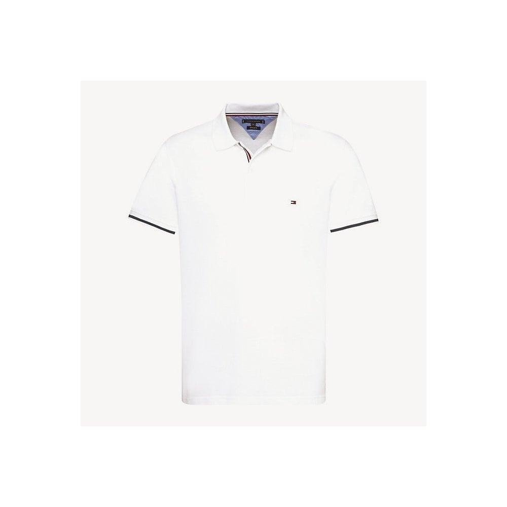 Tommy Hilfiger Stripe Cuff Regular Fit Polo | Pink