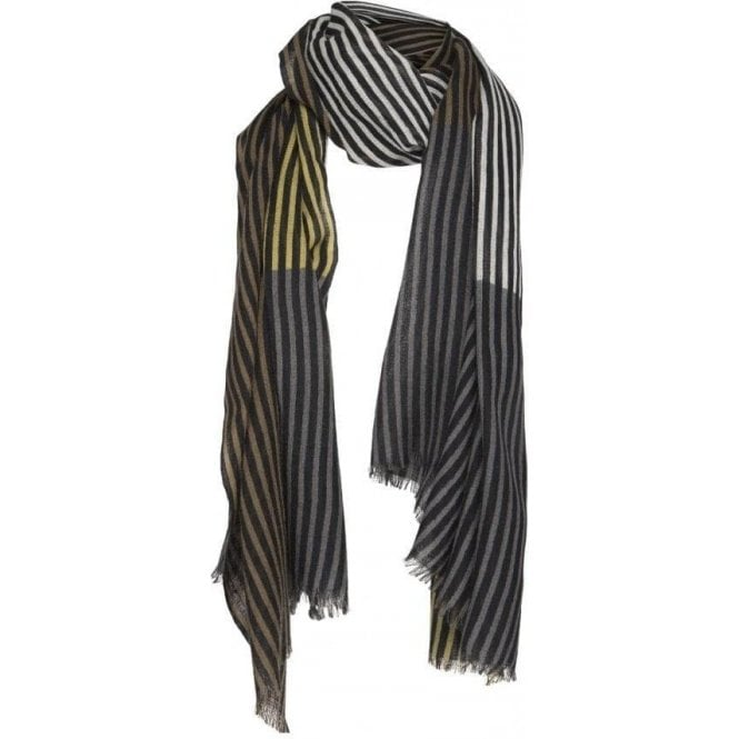 Two Danes Overprint Stripes Scarf