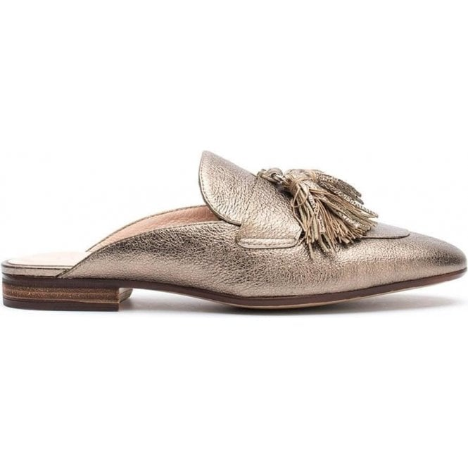 Unisa Leather Mule Loafer With Tassels