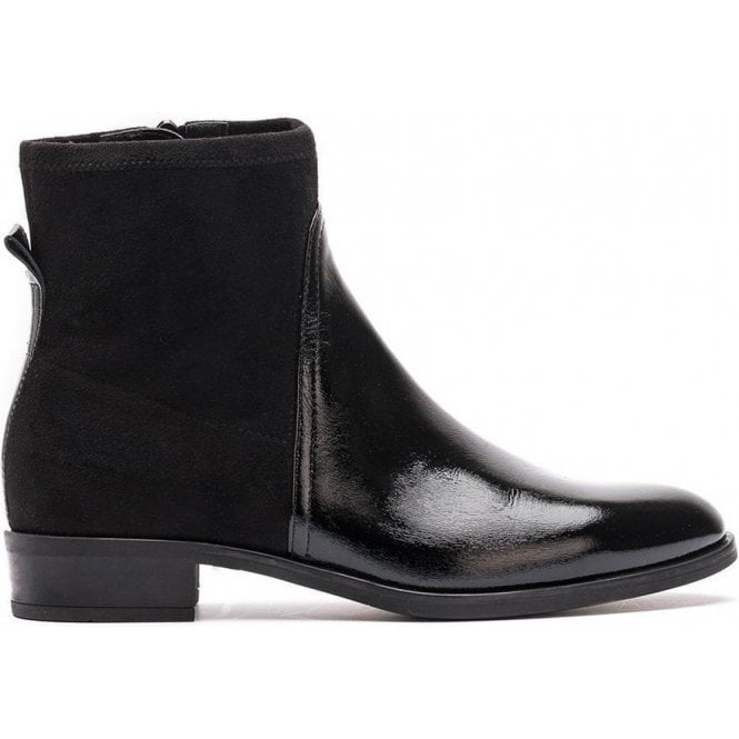 Unisa Mixed Material Black Bootie