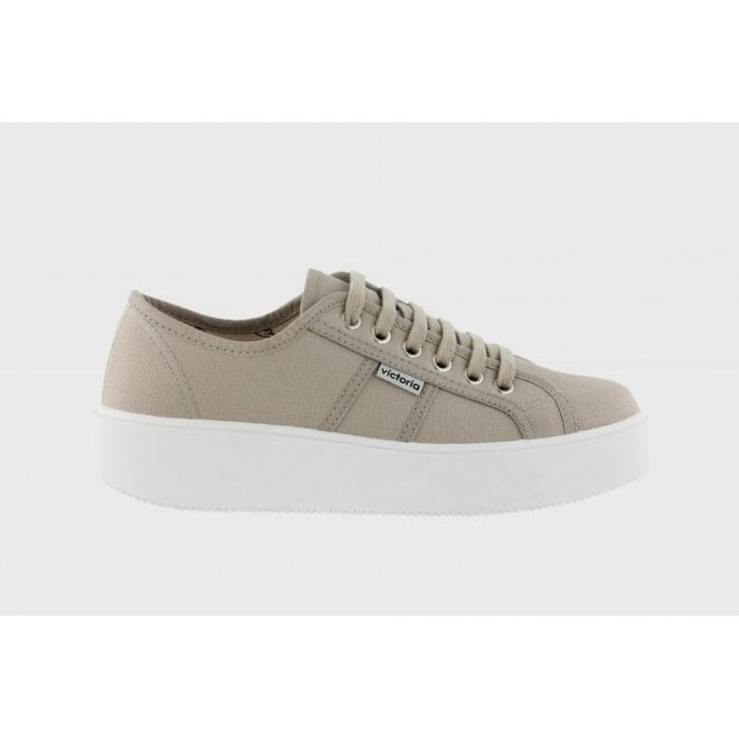 Victoria Plimsolls Canvas Lace-Up Sneakers