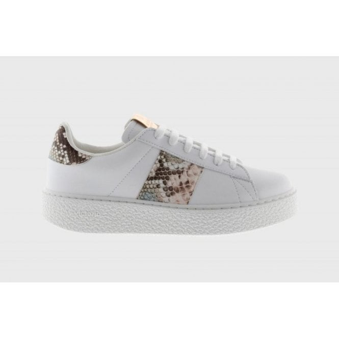 Victoria Plimsolls Utopia Leather Sneakers With Snakeskin Band