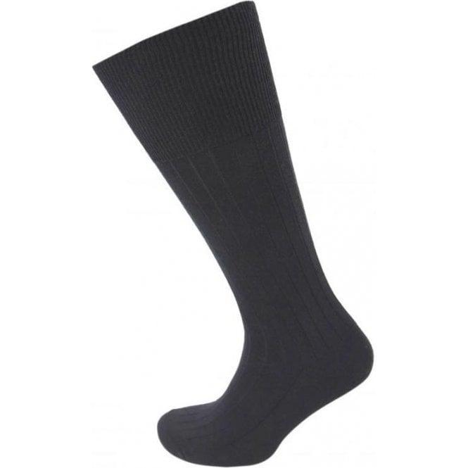Viyella Half Hose Ribbed Sock