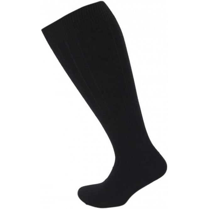 Viyella Knee High Wool Ribbed Sock