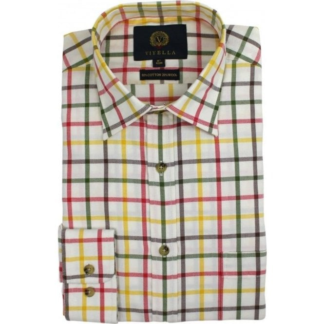 Viyella Tattersall Check 80/20 Cotton Wool Blend Shirt