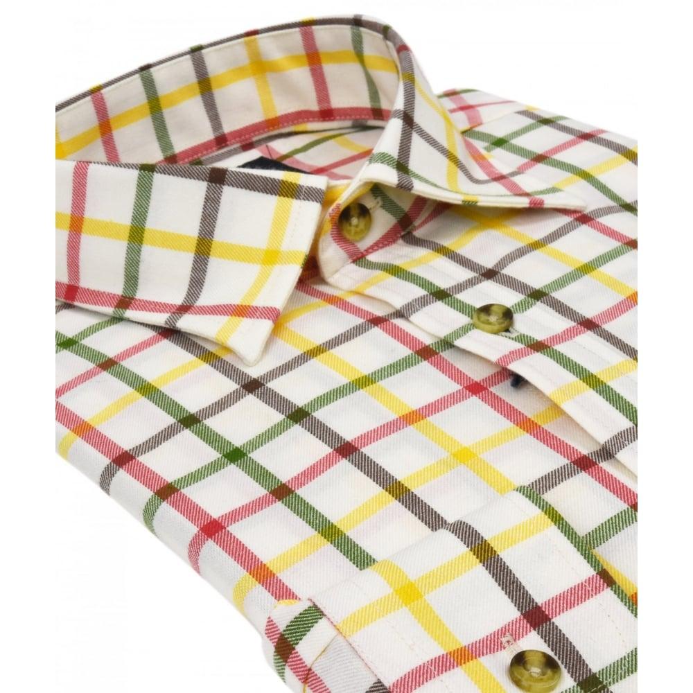 b5812a74d8 Viyella Tattersall Cotton Wool Blend Shirt- Mens Shirts  O C Butcher
