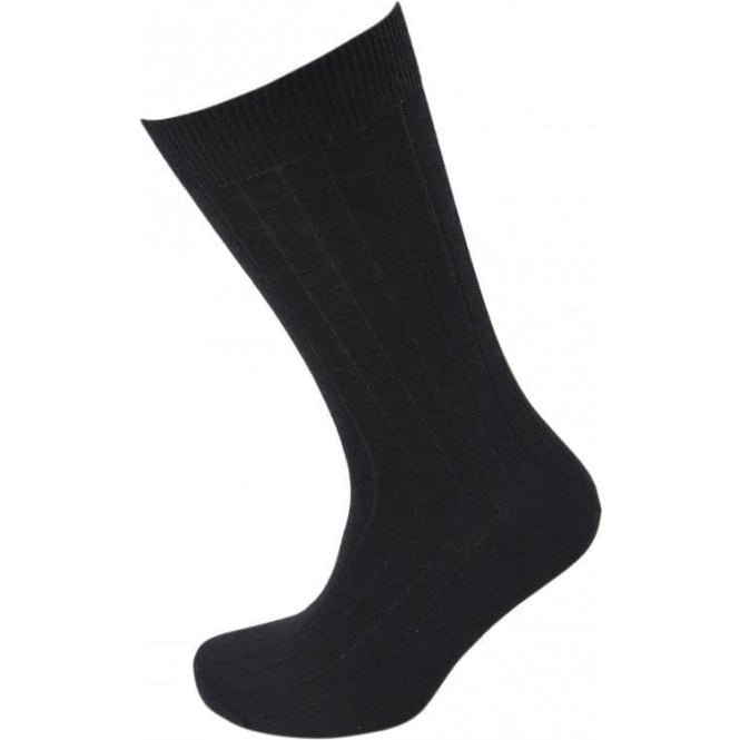Viyella Wool Short Ribbed Sock